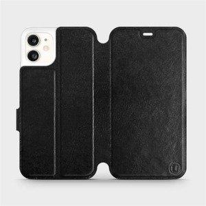 Flipové pouzdro Mobiwear na mobil Apple iPhone 11 v provedení C_BLS Black&Gray s šedým vnitřkem