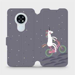 Flipové pouzdro Mobiwear na mobil Nokia 6.2 - V024P Jednorožec na kole