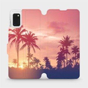 Flipové pouzdro Mobiwear na mobil Samsung Galaxy A41 - M134P Palmy a růžová obloha
