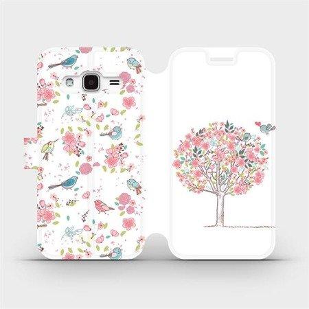 Flipové pouzdro Mobiwear na mobil Samsung Galaxy J3 2016 - M120S Strom a ptáčci
