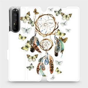 Flipové pouzdro Mobiwear na mobil Sony Xperia 1 II - M001P Lapač a motýlci