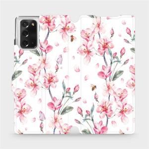 Flipové pouzdro Mobiwear na mobil Samsung Galaxy Note 20 - M124S Růžové květy