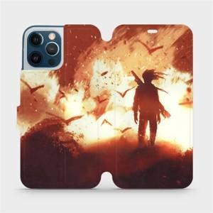 Flipové pouzdro Mobiwear na mobil Apple iPhone 12 Pro Max - MA06S Postava v ohni
