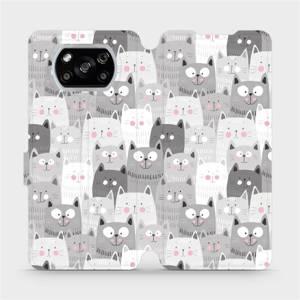 Flipové pouzdro Mobiwear na mobil Xiaomi POCO X3 NFC - M099P Kočičky