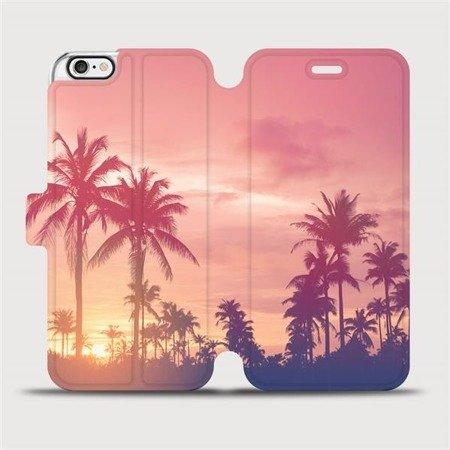 Flipové pouzdro Mobiwear na mobil Apple iPhone 6 / iPhone 6s - M134P Palmy a růžová obloha