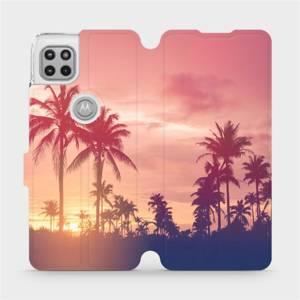 Flipové pouzdro Mobiwear na mobil Motorola Moto G 5G - M134P Palmy a růžová obloha