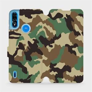 Flipové pouzdro Mobiwear na mobil Motorola Moto E7i Power - V111P Maskáče