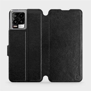 Flip pouzdro Mobiwear na mobil Realme 8 Pro v provedení C_BLS Black&Gray s šedým vnitřkem