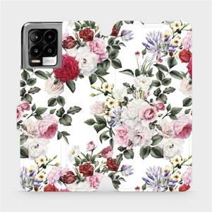 Flip pouzdro Mobiwear na mobil Realme 8 - MD01S Růže na bílé