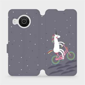 Flip pouzdro Mobiwear na mobil Nokia X10 - V024P Jednorožec na kole