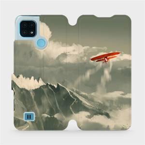 Flip pouzdro Mobiwear na mobil Realme C21 - MA03P Oranžové letadlo v horách