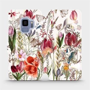 Flip pouzdro Mobiwear na mobil Samsung Galaxy S9 - MP01S Rozkvetlá louka