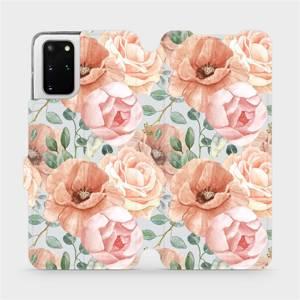 Flip pouzdro Mobiwear na mobil Samsung Galaxy S20 Plus - MP02S Pastelové květy