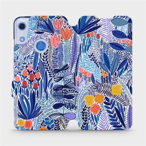 Flip pouzdro Mobiwear na mobil Huawei Y6S - MP03P Modrá květena