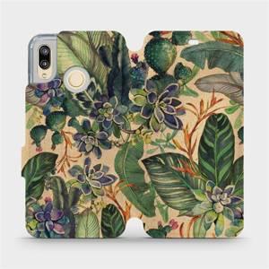 Flip pouzdro Mobiwear na mobil Huawei P20 Lite - VP05S Sukulenty