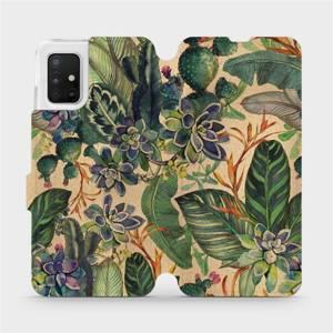 Flip pouzdro Mobiwear na mobil Samsung Galaxy A51 - VP05S Sukulenty
