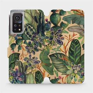 Flip pouzdro Mobiwear na mobil Xiaomi Mi 10T Pro - VP05S Sukulenty