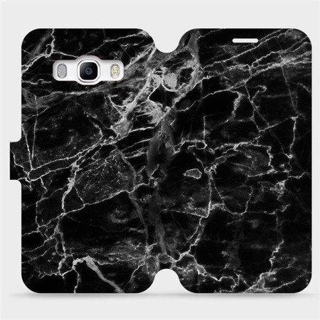Flipové pouzdro Mobiwear na mobil Samsung Galaxy J5 2016 - V056P Černý mramor