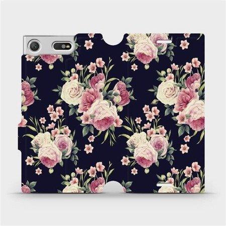 Flipové pouzdro Mobiwear na mobil Sony Xperia XZ1 Compact - V068P Růžičky
