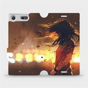 Flipové pouzdro Mobiwear na mobil Sony Xperia XZ1 Compact - MA02S Tetovaná dívka