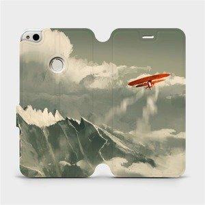 Flipové pouzdro Mobiwear na mobil Huawei P9 Lite 2017 - MA03P Oranžové letadlo v horách