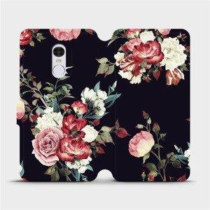 Flipové pouzdro Mobiwear na mobil Xiaomi Redmi Note 4 Global - VD11P Růže na černé