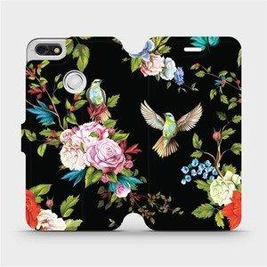 Flipové pouzdro Mobiwear na mobil Huawei P9 Lite mini - VD09S Ptáčci a květy