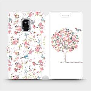 Flipové pouzdro Mobiwear na mobil Samsung Galaxy A8 2018 - M120S Strom a ptáčci