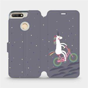 Flipové pouzdro Mobiwear na mobil Huawei Y6 Prime 2018 - V024P Jednorožec na kole