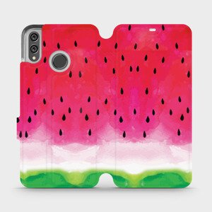 Flipové pouzdro Mobiwear na mobil Honor 8X - V086S Melounek
