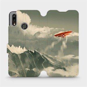 Flipové pouzdro Mobiwear na mobil Huawei P Smart 2019 - MA03P Oranžové letadlo v horách