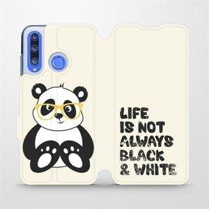 Flipové pouzdro Mobiwear na mobil Honor 20 Lite - M041S Panda - life is not always black and white