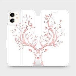 Flipové pouzdro Mobiwear na mobil Apple iPhone 11 - M007S Růžový jelínek
