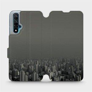 Flipové pouzdro Mobiwear na mobil Huawei Nova 5T - V063P Město v šedém hávu