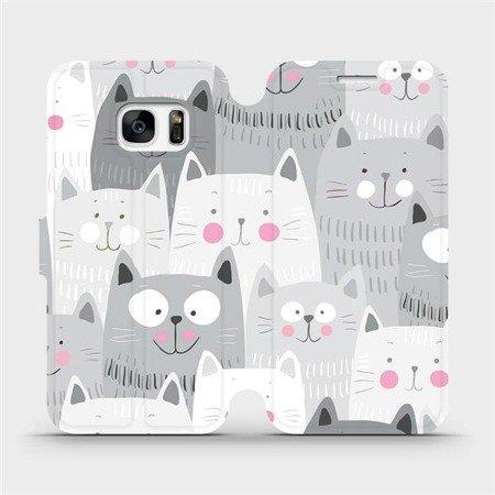 Flipové pouzdro Mobiwear na mobil Samsung Galaxy S7 - M099P Kočičky