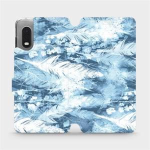 Flipové pouzdro Mobiwear na mobil Samsung Xcover PRO - M058S Světle modrá horizontální pírka