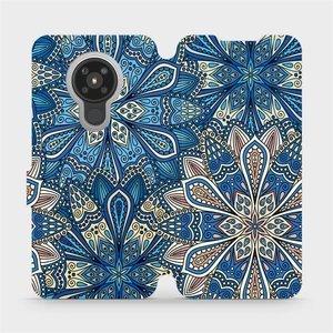 Flipové pouzdro Mobiwear na mobil Nokia 5.3 - V108P Modré mandala květy