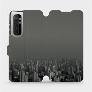 Flipové pouzdro Mobiwear na mobil Xiaomi Mi Note 10 Lite - V063P Město v šedém hávu