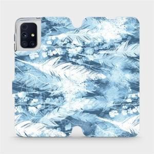 Flipové pouzdro Mobiwear na mobil Samsung Galaxy M31s - M058S Světle modrá horizontální pírka