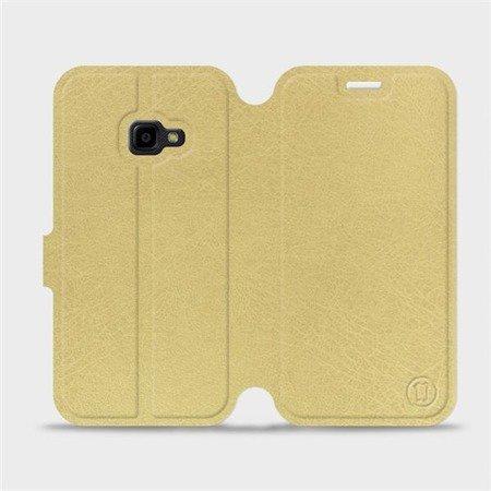 Parádní flip pouzdro Mobiwear na mobil Samsung Xcover 4 v provedení C_GOS Gold&Gray s šedým vnitřkem