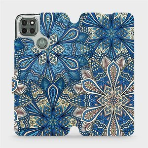 Flipové pouzdro Mobiwear na mobil Motorola Moto G9 Power - V108P Modré mandala květy