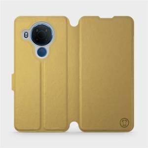 Flipové pouzdro Mobiwear na mobil Nokia 5.4 v provedení C_GOP Gold&Orange s oranžovým vnitřkem