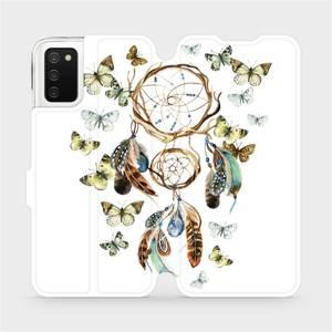 Flipové pouzdro Mobiwear na mobil Samsung Galaxy A02s - M001P Lapač a motýlci