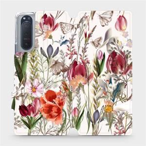Flip pouzdro Mobiwear na mobil Sony Xperia 5 II - MP01S Rozkvetlá louka