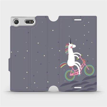 Flipové pouzdro Mobiwear na mobil Sony Xperia XZ1 Compact - V024P Jednorožec na kole