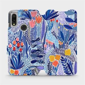 Flip pouzdro Mobiwear na mobil Xiaomi Redmi 7 - MP03P Modrá květena