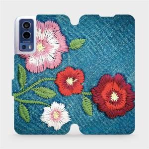 Flip pouzdro Mobiwear na mobil Vivo Y72 5G / Vivo Y52 5G - MD05P Džínové květy
