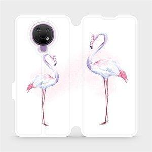 Flip pouzdro Mobiwear na mobil Nokia G10 - M005S Plameňáci