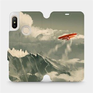 Flipové pouzdro Mobiwear na mobil Xiaomi Mi A2 Lite - MA03P Oranžové letadlo v horách