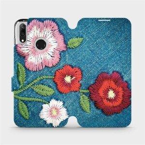 Flipové pouzdro Mobiwear na mobil Huawei Y7 2019 - MD05P Džínové květy